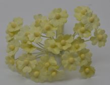 1.3cm PALE MINT MYOSOTIS Mulberry Paper Flowers